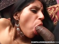 Big boob indian slut xxx fucking with group of white studs