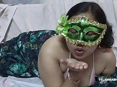 Indian slut bhabhi velamma playing with her milky big boobs