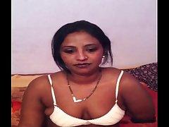 Bangladeshi bhabhi wife taking her bra off to show big brown nipple and breast