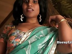 Busty desi indian milf sucks cock